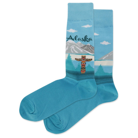 Alaska Men's Travel Themed Crew Socks