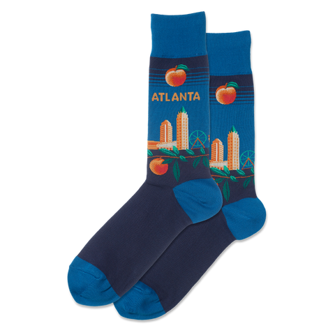 Atlanta Women's Travel Themed Crew Socks