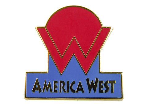 America West Logo Lapel Pin