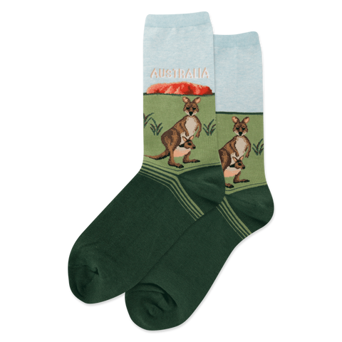Australia Women's Travel Themed Crew Socks