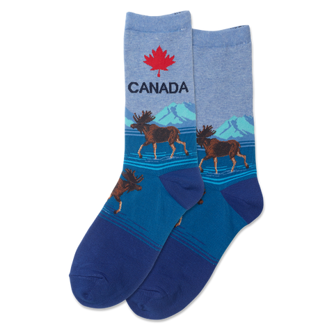 Canada Women's Travel Themed Crew Socks