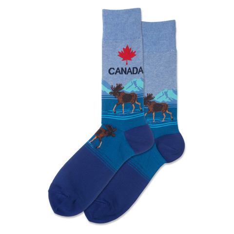 Canada Men's Travel Themed Crew Socks