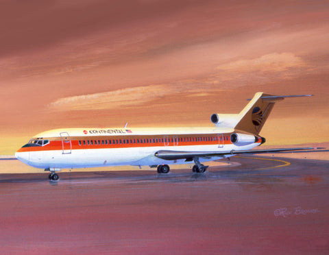 Continental 727 notecard