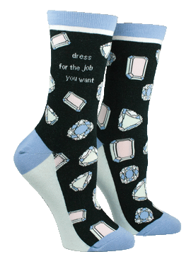 Anne Taintor Crew Socks - dress for the job you want