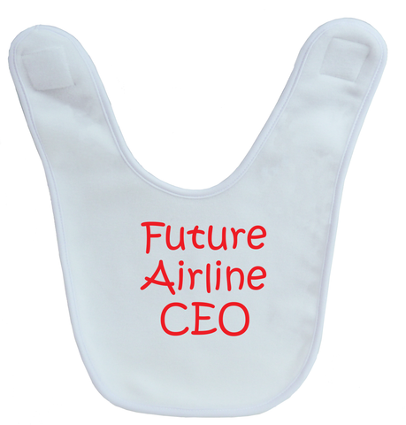 Future Airline CEO Baby Bib
