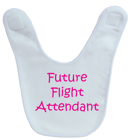 Future Flight Attendant Baby Bib