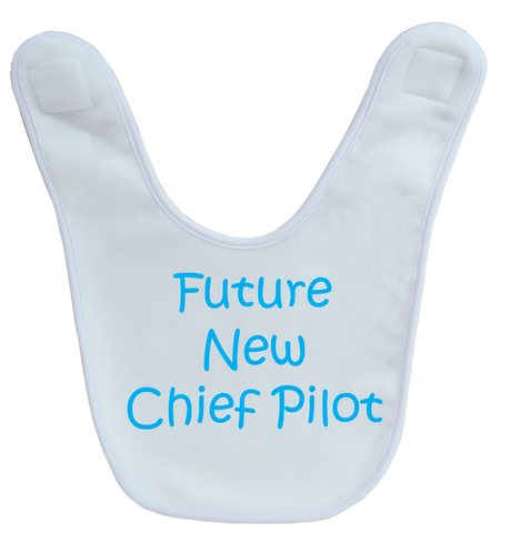 Future Chief Pilot Baby Bib