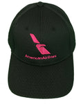 Hot Pink Logo Black Mesh Cap