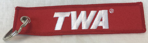 TWA Red Logo Key Tag