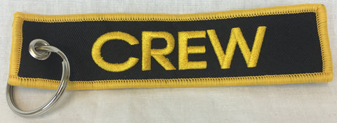 Black and Gold Crew Key Tag