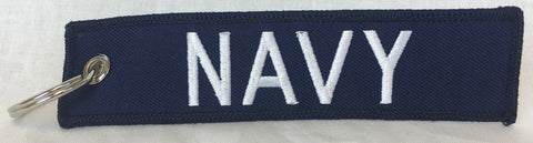 Navy Key Tag