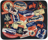 American Airlines Bag Sticker Collage Mousepad
