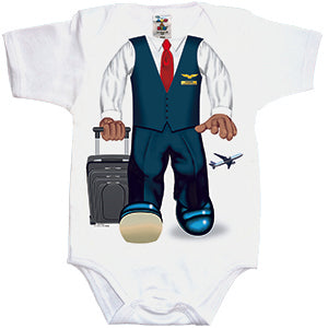 Add A Kid Infant Male Flight Attendant Onesie