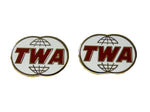 TWA Globe Logo Earrings