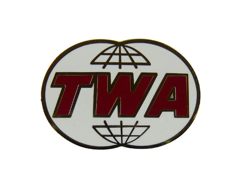 TWA Retro Twin Globe Logo Lapel Pin
