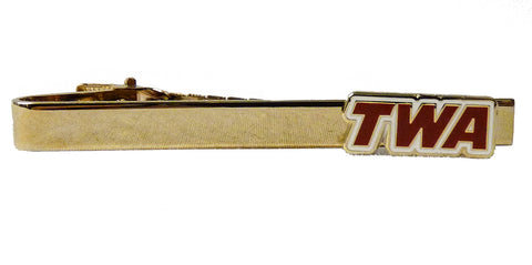 TWA Red Logo Tie Bar and Tie Pin