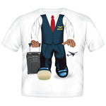 Add A Kid Toddler Male Flight Attendant T-shirt