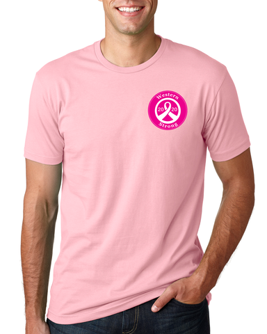 Western Airlines 2020 Breast Cancer Awareness Men's T-shirt
