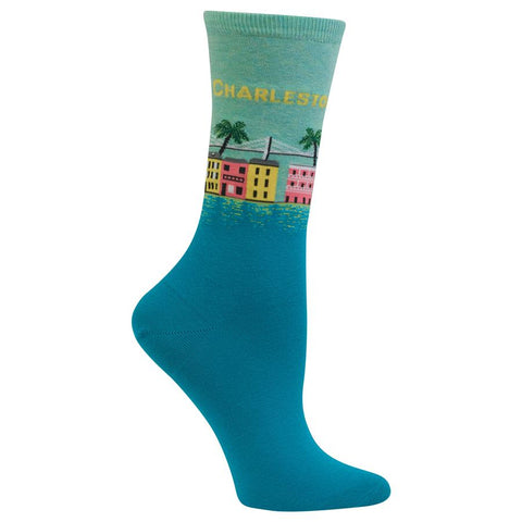 Charleston Women's Travel Themed Crew Socks