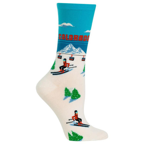 Colorado Women's Travel Themed Crew Socks
