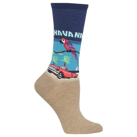 Havana Women's Travel Themed Crew Socks
