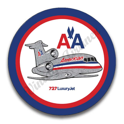 AA 727 Old Livery Magnets
