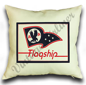 American Airlines Flagship Flag Bag Sticker Linen Pillow Case Cover