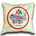 American Airlines 757 Old Livery Linen Pillow Case Cover