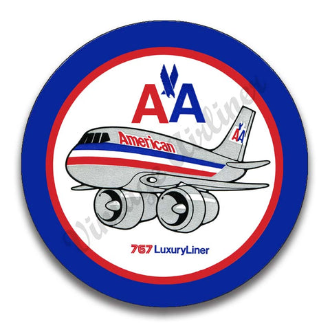 AA 757 Old Livery Magnets