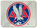AA 1930's Logo Glass Cutting Board