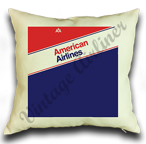 American Airlines 1980's Ticket Jacket Pillow Case Cover