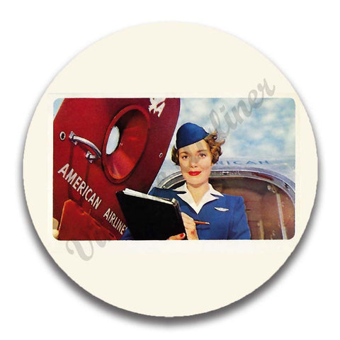 AA 1950's Flight Attendant Magnets
