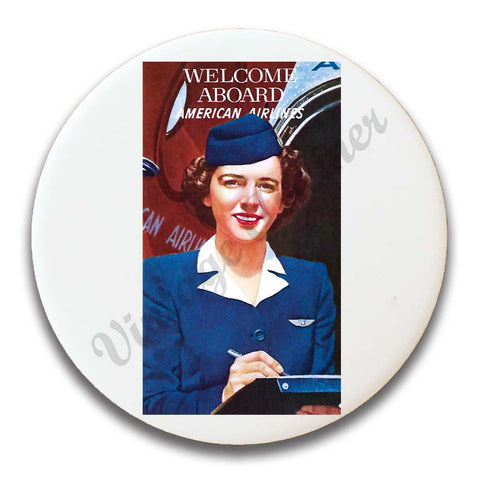 AA 1940's Flight Attendant Magnets
