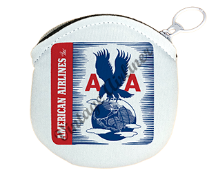 American Airlines 1940's Eagle Sticker Round Coin Purse