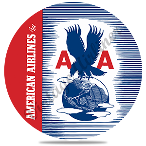 AA 1940's Eagle Bag Sticker Round Coaster