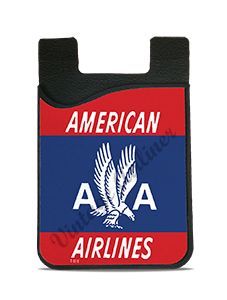 American Airlines 40's Red Bag Sticker Card Caddy
