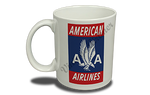American Airlines 40's Red Bag Sticker 11 oz. Coffee Mug