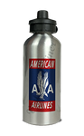 American Airlines 1940's Red Bag Sticker Aluminum Water Bottle