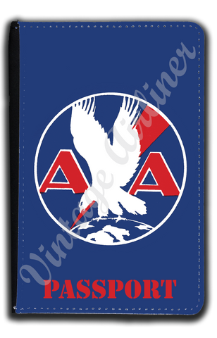 AA 1930's Logo Blue Passport Case