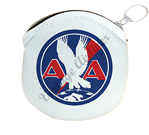 American Airlines 1930's Logo Bag Sticker Round Coin Purse