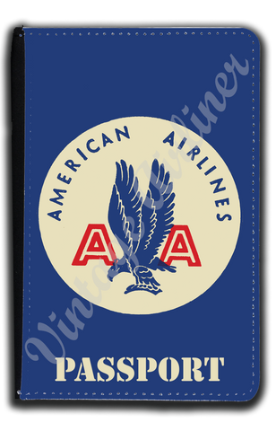 AA 1940's Bag Sticker Blue Passport Case