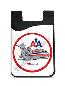 American Airlines 727 Bag Sticker Card Caddy
