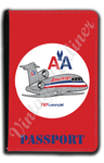 AA 727 Old Livery Bag Sticker Passport Case