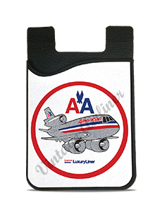 American Airlines DC-10 Bag Sticker Card Caddy