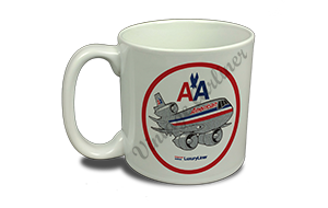 American Airlines Old Livery DC-10 Bag Sticker 20 oz. Coffee Mug
