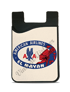 American Airlines El Mayan Bag Sticker Card Caddy