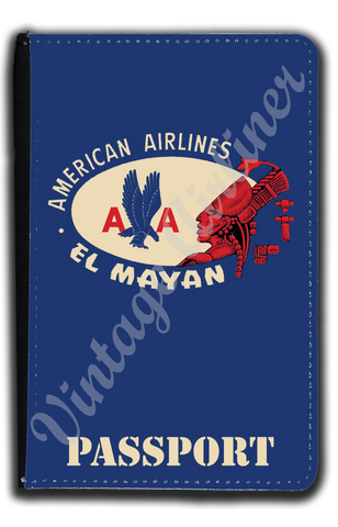 AA El Mayan Bag Sticker Passport Case