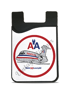 American Airlines MD80 Bag Sticker Card Caddy