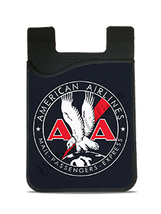 American Airlines 1930's Mail Passenger Cargo Bag Sticker Card Caddy