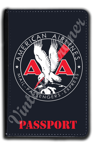 AA 1930's Mail Passenger Cargo Bag Sticker Passport Case